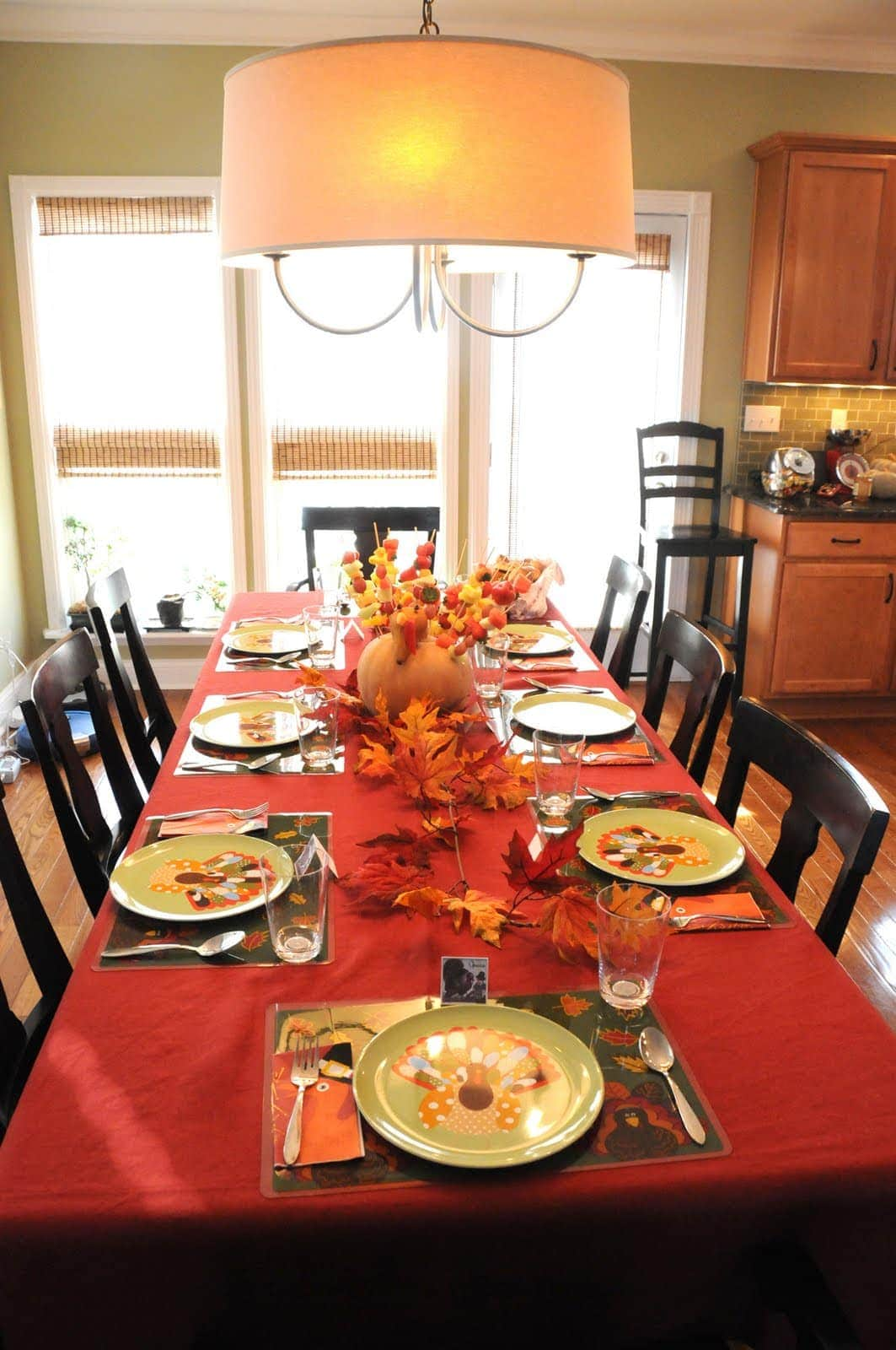 Thanksgiving decor the polkadot chair Fall decorating ideas for dinner party