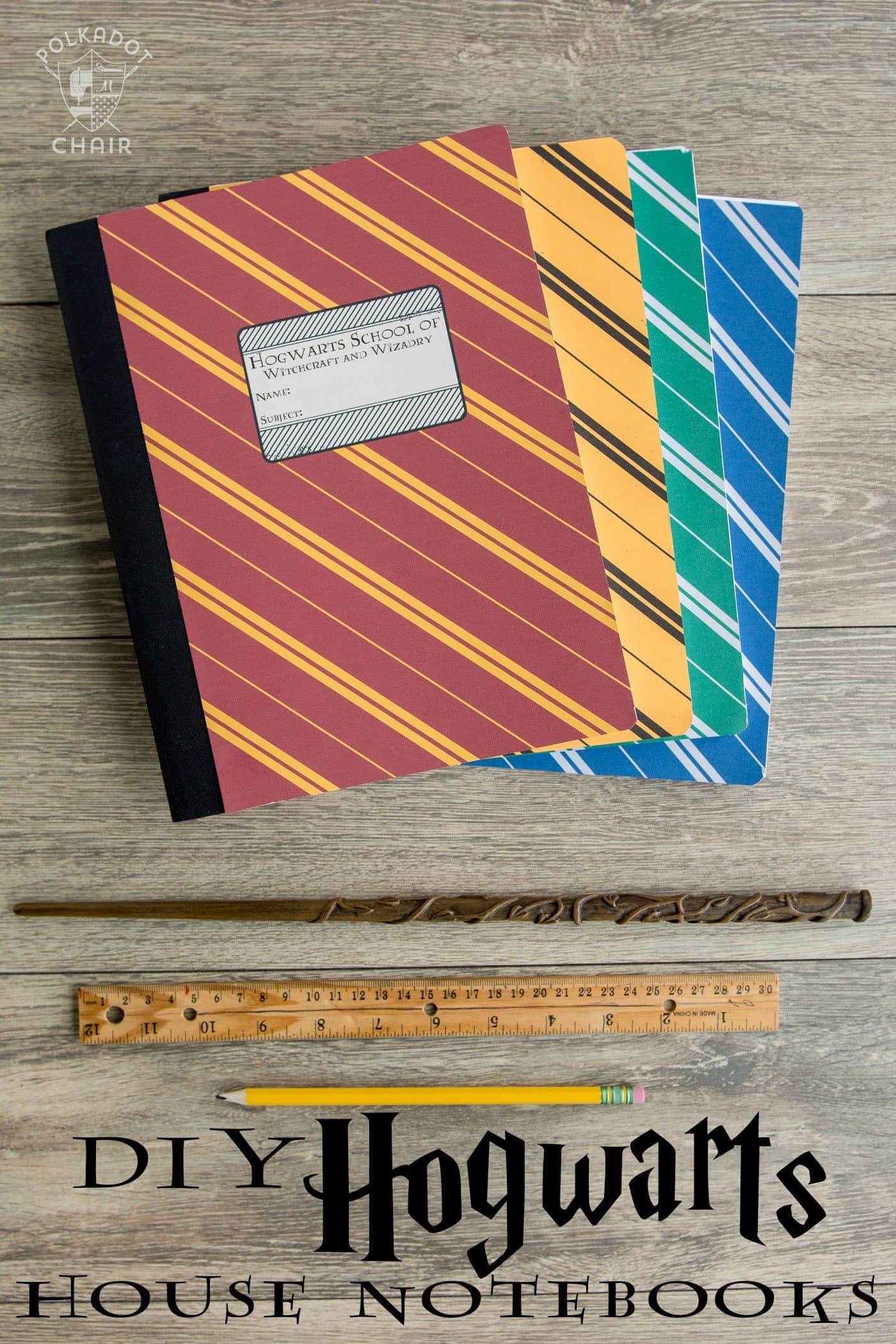 Book Cover Craft Room : Diy hogwarts inspired house notebooks harry potter craft